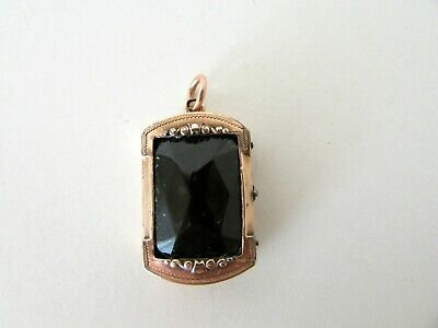 Antique Victorian Copper Hinged Photo Locket Pendant