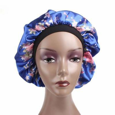 Women Wide Band Satin Bonnet Cap Soft Satin Night Sleep Hat Ladies Girl Turban
