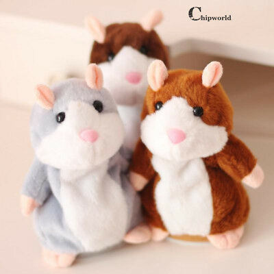 2019 NEW Talking Hamster Mouse Pet Plush Toys Cute Speak Sound Record Baby Gifts
