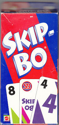 SKIP-BO CARD GAME by MATTEL 100% COMPLETE Ages 7+, 2 to 6 Players #42050 2003