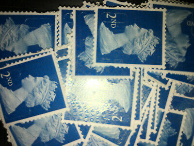 100 2nd Class Unfranked Security Stamps Off Paper No Gum lot 3
