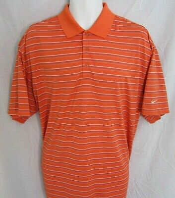 368f9636 NIKE XXL FIT-DRY Texas Longhorns Orange Short Sleeve Golf Polo Shirt ...