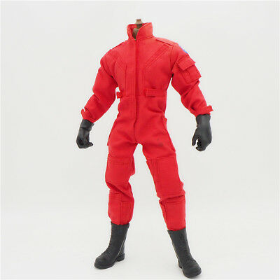 1/6 Scale Uniforms Outfits Coveralls red jumpsuit for 12in Action Figures