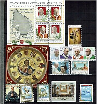 Vatican  Year  2019  All Stamps  Issued In 2019  Mnh ( 13 Stamps + 4Ms+1 Folder)