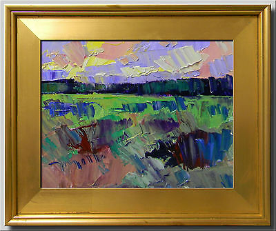 JOSE TRUJILLO Oil Painting MODERNIST IMPRESSIONISM LANDSCAPE FRAMED COLLECTIBLE
