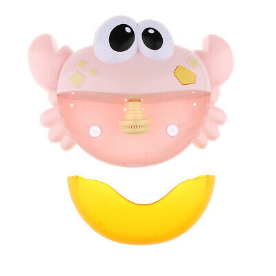 Macaron Bathroom Bubble Maker Machine Crab Shape Automatic Bathtub Toys Pink