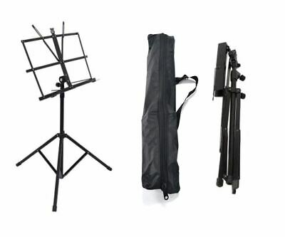 Metal Adjustable Easy Folding Book Sheet Music Stand Portable Holder + Carry Bag