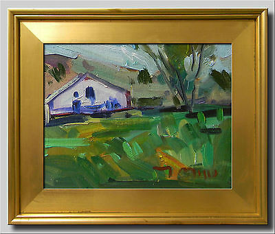 JOSE TRUJILLO Original FRAMED Oil Painting Canvas Plein Air Farm House Pastoral