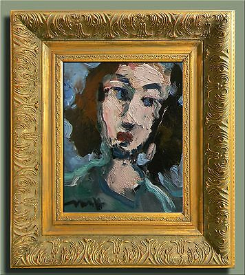 JOSE TRUJILLO ORIGINAL EXPRESSIONIST IMPRESSIONISM FRAMED Oil Painting PORTRAIT