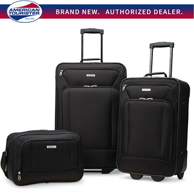 "American Tourister Fieldbrook XLT 3 Piece Luggage Set (21"" & 25"") - Choose Color"