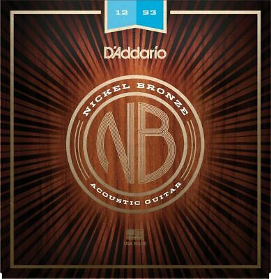 5 Sets D'Addario NB1253 Nickel Bronze Acoustic Guitar Strings Light Gauge 12-53