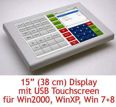 """Rs 232 Elo Touch Screen Display Canvys PV760T for Windows XP 7 8 15in 15 /"""" USB"""