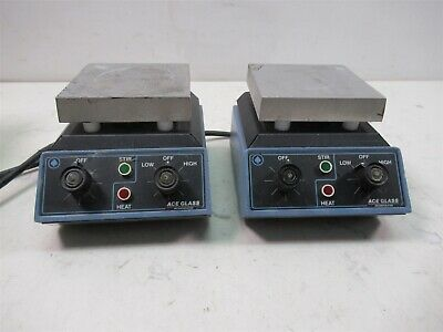 Lot of 2 ACE Glass 542A Heated Magnetic Stirrers Laboratory Mixer Units