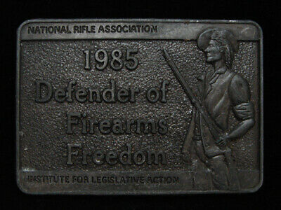 Ng25110 Vintage 1985 *Defender Of Firearms Freedom** Nat'l Rifle Assoc. Buckle