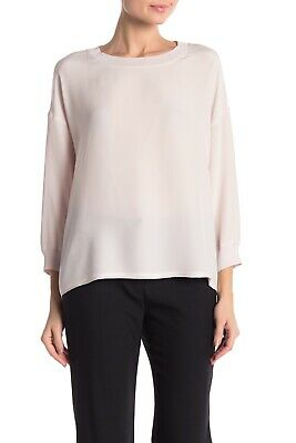 dc01a1075c0f89  295 NEW VINCE LONG SLEEVE SOLID GRAY SILK CAREER BLOUSE sz S ...