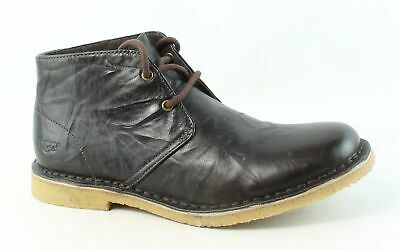 UGG Mens Australia Leighton Chocolate Ankle Boots Size 7.5 (249157)