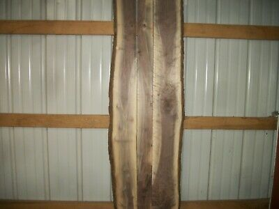 """3 Pc Rustic Walnut Lumber Wood Air Dried Boards 1 1/8"""" Thick 1033Z Slab Table"""