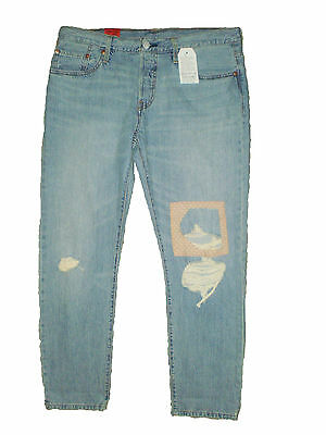 409b2b396cc Levis 501 CT Straight Button Fly Womens Cropped Blue Jeans Size 30 X 28 New  $64