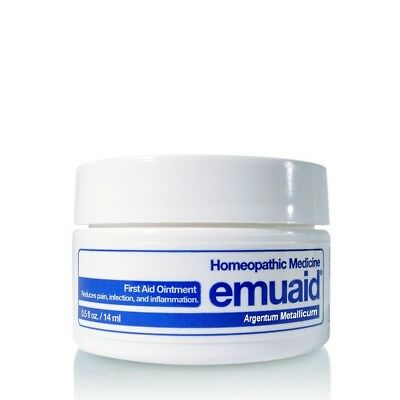 Emuaid First Aid Ointment 0.5oz For Eczema Acne Dermatitis Psoriasis Sm Jar