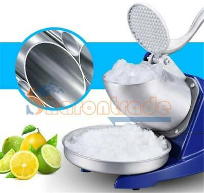 85KGS/H 300W Commercial Dual Blade Ice Shaver Crusher Shaved Icee Make Machine