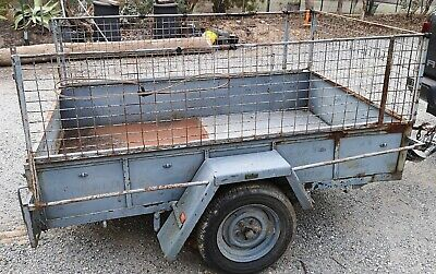 6X4 BOX TRAILER WITH CAGE - Pick up from Kew or Warrandyte
