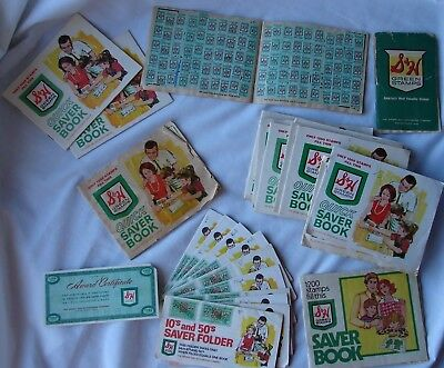Lot Vintage S&H Green Stamps Booklets Film Envelope Quick Saver Books Sperry