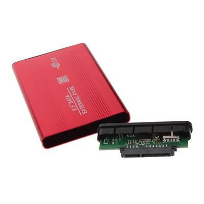 External USB 2.5 Inch Hard Drive Case Enclosure SATA HDD SSD USB 2.0 Red  DA