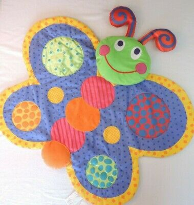 Carters Plushy Butterfly Tummy Time Mat Playtime Baby Manipulative Play Activity