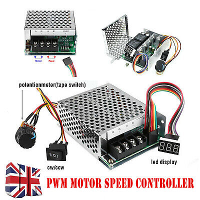 DC 10-55V 60A PWM Motor Speed Controller CW CCW Reversible Switch 12/24/48V CLL