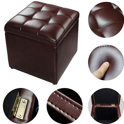 Fabulous Storage Ottoman Square Seat Footrest Faux Leather Cube Pu Camellatalisay Diy Chair Ideas Camellatalisaycom