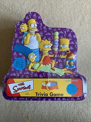 The Simpsons Trivia Game. New Factory Sealed 2000