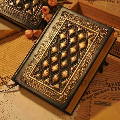 Embossed PU Cover Notebook Journal Notepad Travel Sketchbook School Office Thick