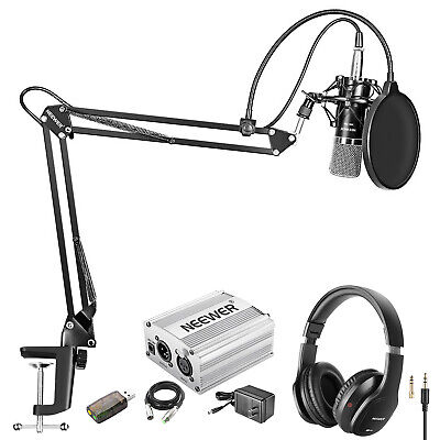 NW-700 Condenser Microphone Kit with Studio Monitor Headphones Headsets