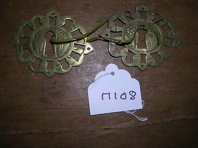 Pair Of Antique  Brass Escutcheons (M108)