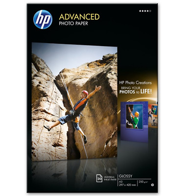 HP Advanced Photo Paper Ink-jet Glossy A3 (297 x 420 mm) 250 g/m² 20 Sheet(s)