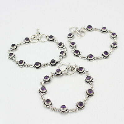 Mixed Items & Lots Wholesale 1pc 925 Silver Plated Black Onyx Bracelet Lot1243 Buy One Give One Fashion Jewelry