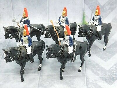 THE LIFEGUARDS Household Cavalry x5 inc STANDARD Britains 61687