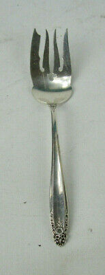 "International PRELUDE Sterling Silver Large Cold Meat Fork 9"" 2.6 Toz No Mono"
