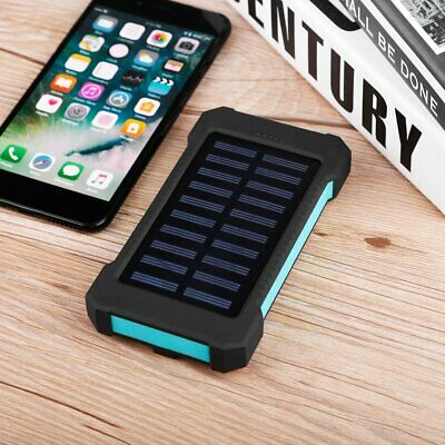 Waterproof 300000mAh Portable Solar Charger Dual USB Battery Power BankTY