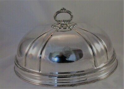 A Fine Old Sheffield Plate Meat Dome with Pheonix Crest - Walker Knowles