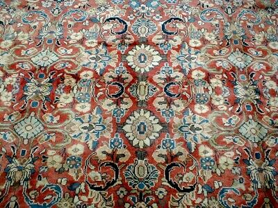 10X12 1940's MASTERPIECE MINT ANTIQUE HAND KNOTTED PERSIAN SAROUKK ORIENTAL RUG