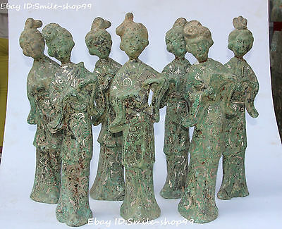 Chinese Bronze Vessels Silver Ancient Musical Instruments Belle Beauty Set