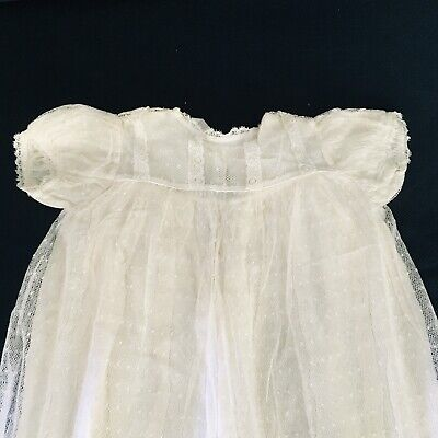 Vintage satin and lace christening gown. Sterling brand