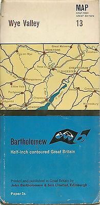 Bartholomews half-inch Map No 13 WYE NVALLEY - 1963