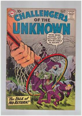 Challengers of the Unknown # 7  Isle of No Return !  grade 4.5 scarce book !