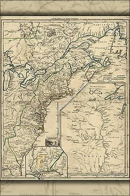 Poster, Many Sizes; Map Of New England & Canada 1755 P1
