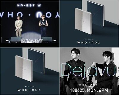 NU'EST: WHO, YOU* 2nd Mini Album* Full Package Poster (CD, Stone Music) K-POP