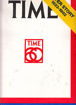 TIME MAGAZINE COVER STORY 1923-1982, SPECIAL 60th ANNIVERSARY EDITION