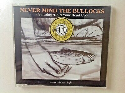 FISH - NEVER MIND THE BULLOCKS/HOLD YOUR HEAD UP. Original CD single. EXCELLENT
