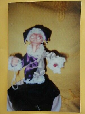 Weird Creepy Doll Shot Old Witch As Found Color Photo Snapshot 2